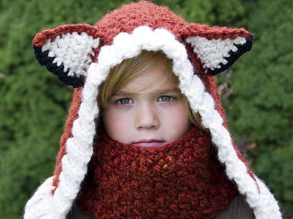 crochet Fox Cowl and Hood easy pattern