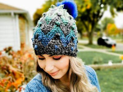 crochet Glicka Beanie free pattern