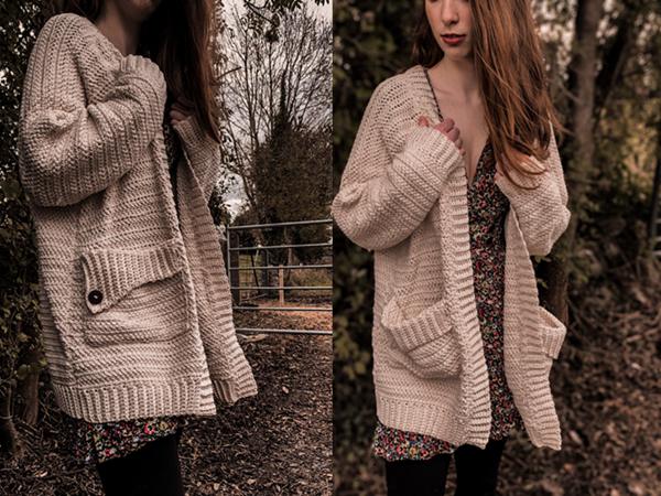 crochet Grainne Pocket Cardigan free pattern