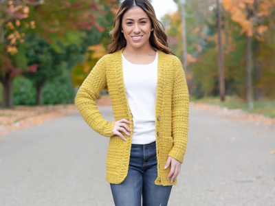 crochet Harvest Cardigan free pattern