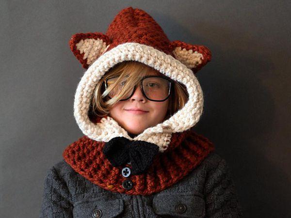 crochet Hooded Fox Cowl easy Pattern