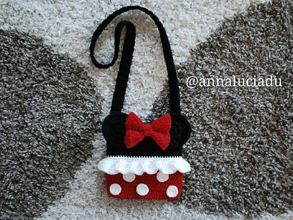 crochet Minnie Mouse Bag easy pattern