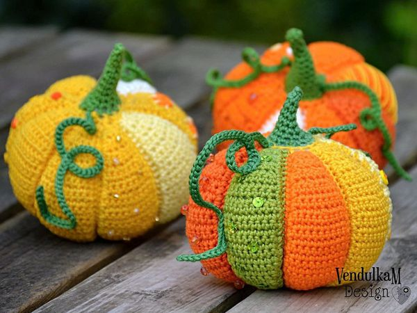 crochet Patchwork Pumpkin easy pattern
