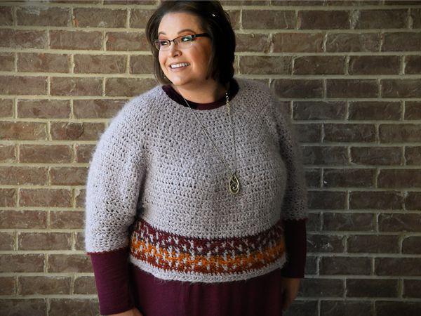 crochet Pumpkin Spice Sweater free pattern