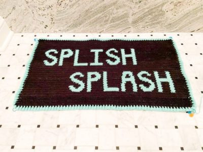 crochet Splish Splash Bath Mat Rug free pattern