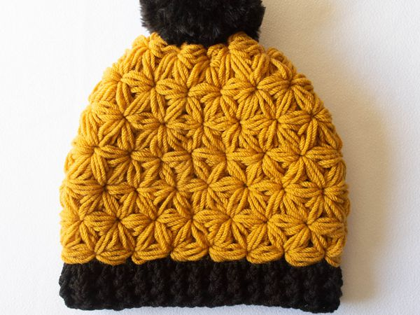 crochet The Jasmine Stitch Beanie free pattern