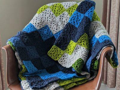 crochet Topographic Baby Blanket free pattern