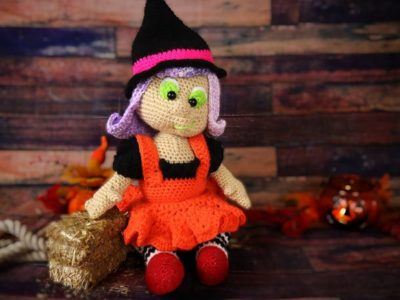 crochet Witch Halloween Amigurumi Doll free pattern