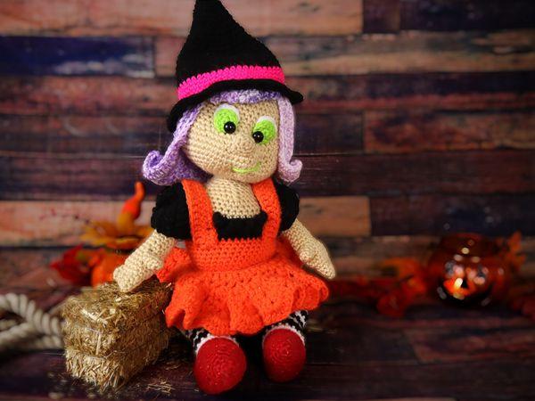 crochet Witch Halloween Amigurumi Doll free pattern