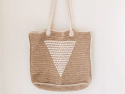 Straw Crochet Tote Bag free pattern