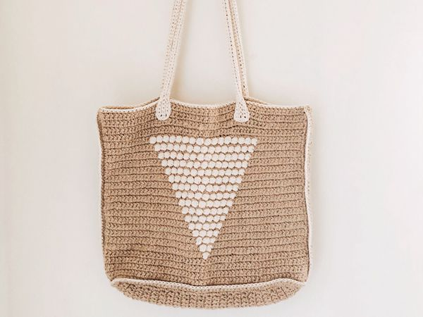 Straw Crochet Tote Bag free pattern