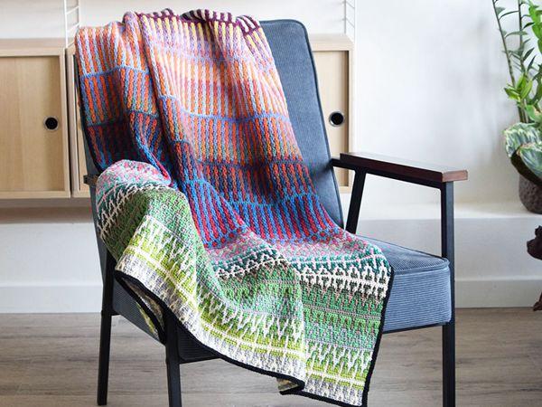 crochet A Very Rainbow Blanket free pattern