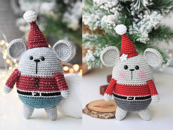 crochet Amigurumi Santa Mouse free pattern