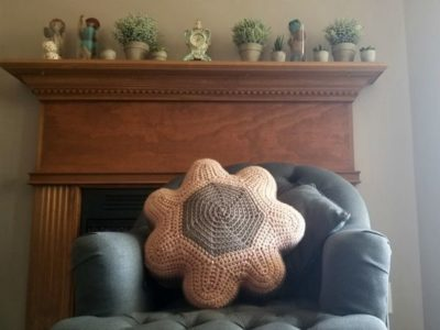 crochet Boho Blossom Throw Pillow free pattern