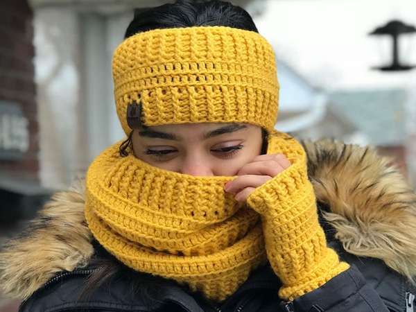 crochet Brooklyn Cowl easy pattern