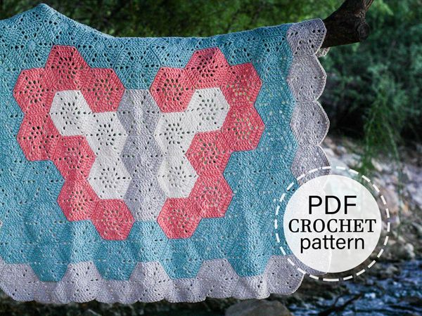 crochet Butterfly Baby Blanket easy Pattern