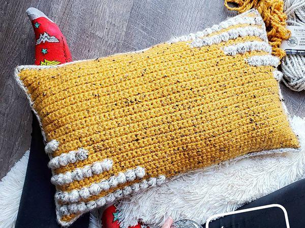 crochet Charismatic Pillow free pattern