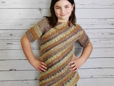 crochet Child Tilted Tunic free pattern