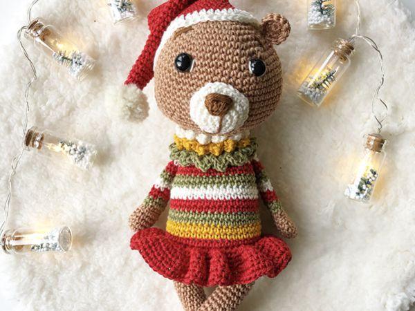 crochet Christmas Bear free pattern