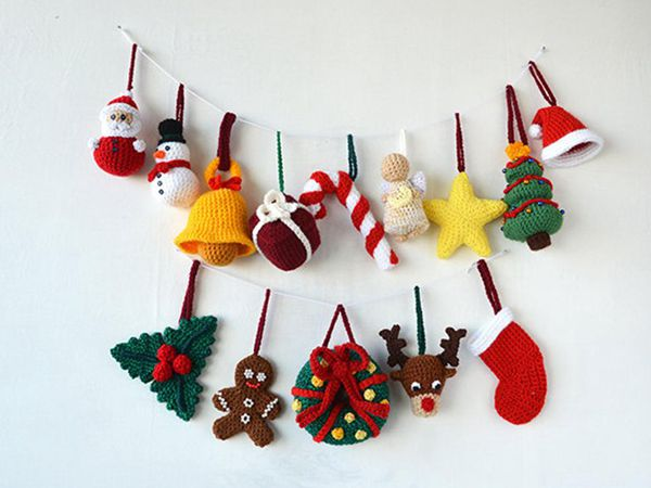 crochet Christmas Tree Decorations easy pattern