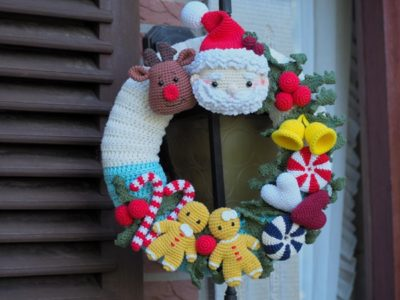 crochet Christmas Wreath easy pattern