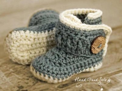 crochet Chunky Wrap Baby Booties easy pattern