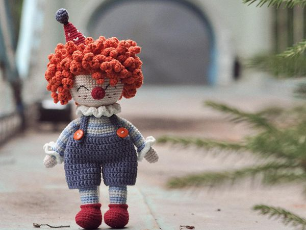 crochet Cute Clown easy pattern