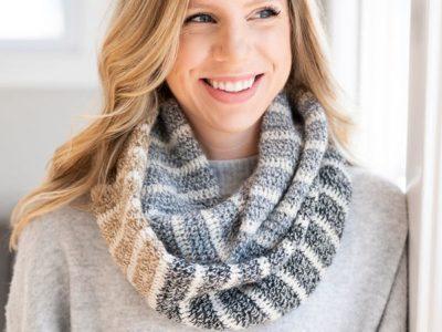 crochet Endless Infinity Scarf free pattern
