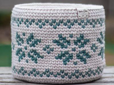 crochet Fair Isle Basket free pattern