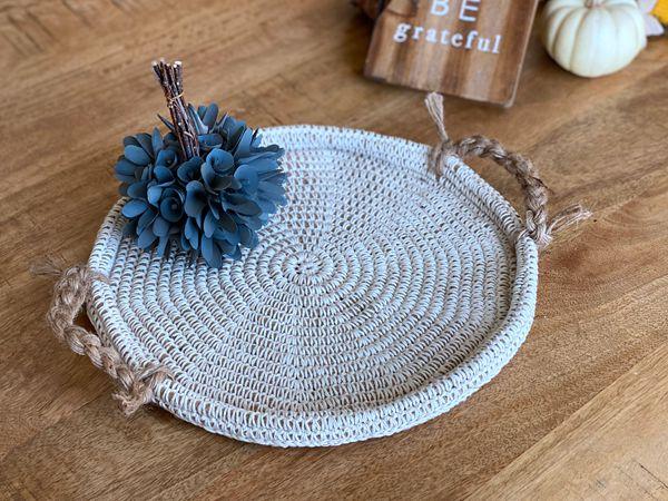 crochet Jute Cord Tray free pattern