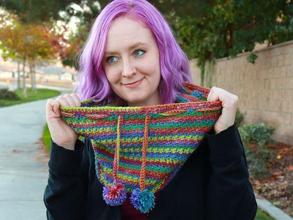crochet Kelsey Cowl free pattern