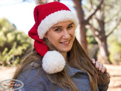 crochet Long Santa Hat free pattern