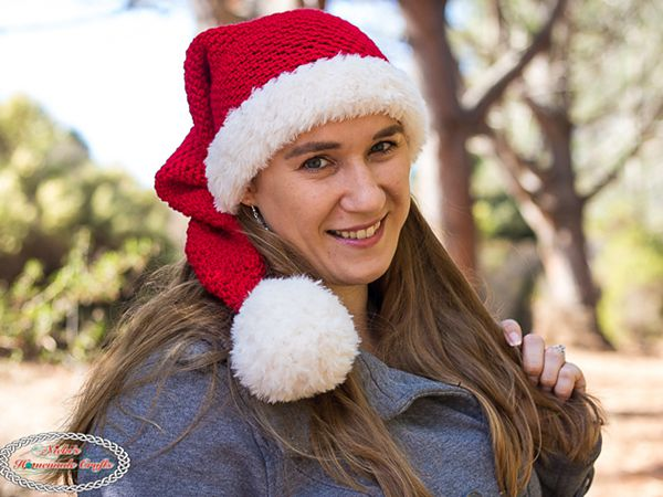 crochet Long Santa Hat free pattern