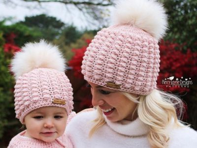 crochet Pure Puffs Beanie easy pattern