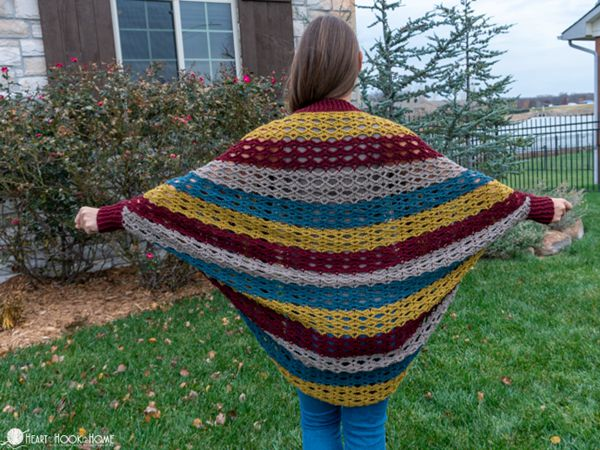 crochet Shady Shell Cocoon free pattern