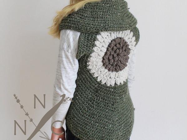 crochet The Clementine Shrug Vest easy pattern