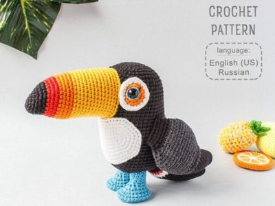 crochet Toucan easy pattern