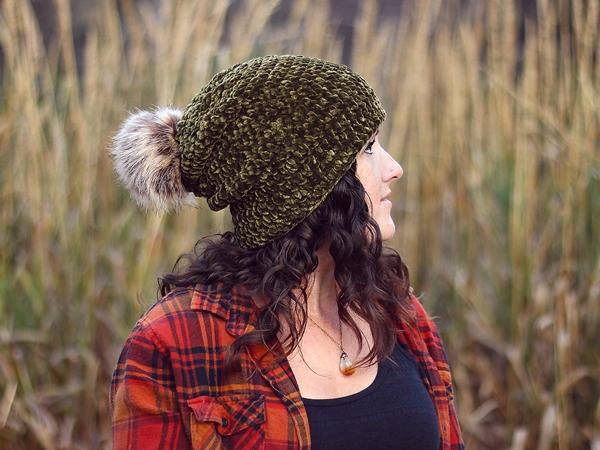 crochet Velvet Slouchy Beanie free pattern