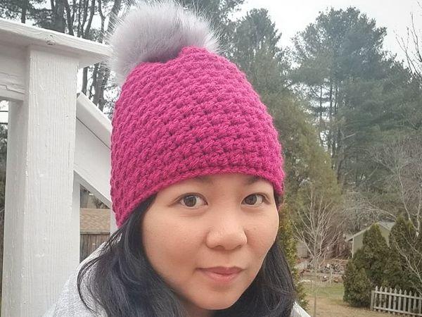 crochet Winter Break Beanie free pattern