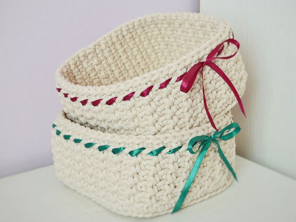 crochet Basket Candy free pattern