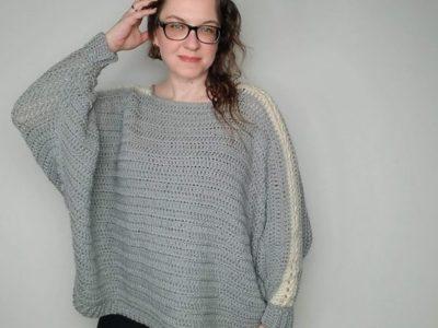 crochet Batwing Lace Sweater free pattern