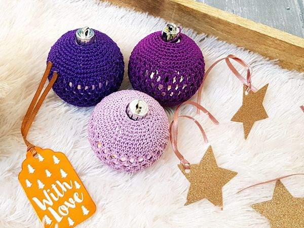 Beaded Christmas Baubles