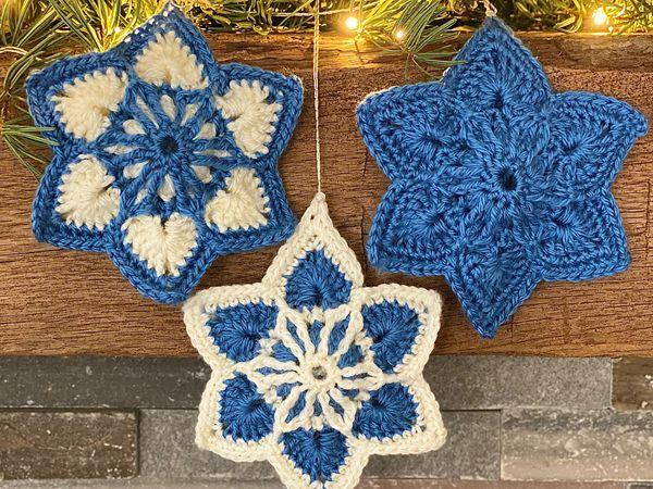 crochet Brioche Six-Point Star free pattern