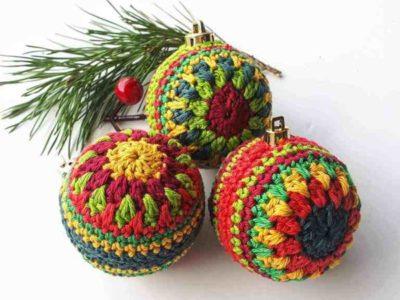 crochet Christmas Bauble free pattern