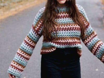 crochet Claudia Crop free pattern