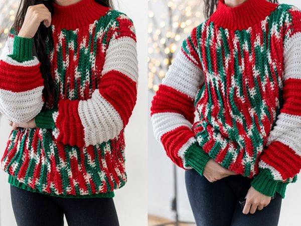 crochet EASY Christmas Sweater pattern
