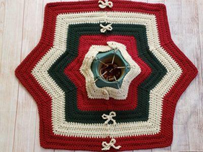 crochet Elizabeth Tree Skirt free pattern