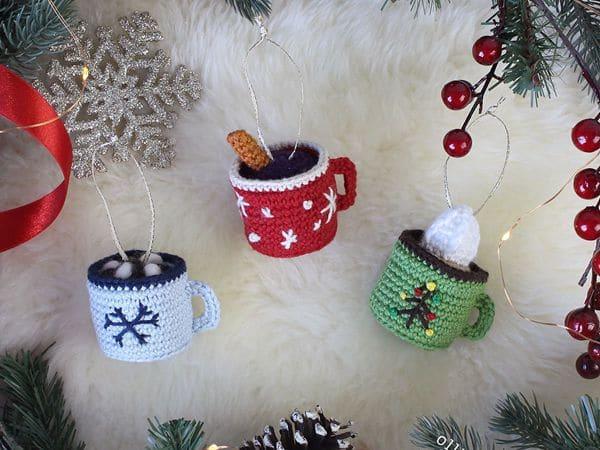 crochet Hot Chocolate Mug free pattern