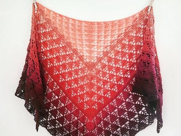 crochet Sunday Strolls Shawl free pattern