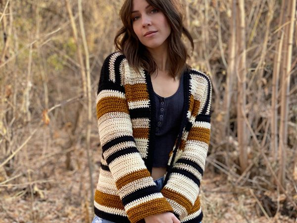 crochet The Morning Coffee Cardigan free pattern